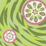 αφηρημένο διακοσμητικό πρότυπο ζωγραφικής λουλουδιών γεωμετρικό Στοκ Εικόνα