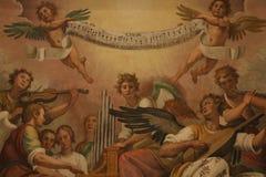 αφηρημένο διακοσμητικό πρότυπο ζωγραφικής λουλουδιών γεωμετρικό στοκ φωτογραφία με δικαίωμα ελεύθερης χρήσης