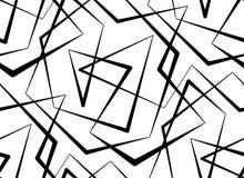 Αφηρημένο διανυσματικό άνευ ραφής άσπρο υπόβαθρο των μαύρων γραμμών Στοκ εικόνες με δικαίωμα ελεύθερης χρήσης
