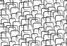 Αφηρημένο διανυσματικό άνευ ραφής άσπρο υπόβαθρο των μαύρων τετραγώνων Στοκ Εικόνα
