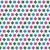 Αφηρημένο διανυσματικό άνευ ραφής σχέδιο λουλουδιών Στοκ Εικόνες