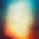 Αφηρημένο διανυσματικό γεωμετρικό τεχνολογικό ζωηρόχρωμο φωτεινό Backgrou Στοκ Εικόνα