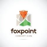 Αφηρημένο διανυσματικό εικονίδιο συμβόλων σημείου αλεπούδων ελεύθερη απεικόνιση δικαιώματος