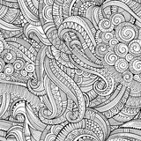 Αφηρημένο διανυσματικό διακοσμητικό συρμένο χέρι floral άνευ ραφής σχέδιο φύσης Στοκ Φωτογραφίες