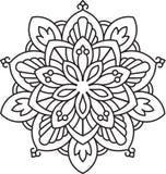 Αφηρημένο διανυσματικό μαύρο στρογγυλό σχέδιο δαντελλών - mandala, εθνικές ευπρέπειες Στοκ Φωτογραφία
