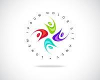 Αφηρημένο διανυσματικό πρότυπο σχεδίου λογότυπων Στοκ εικόνα με δικαίωμα ελεύθερης χρήσης