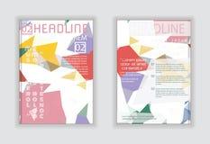 Αφηρημένο διανυσματικό πρότυπο σχεδιαγράμματος σχεδίου ιπτάμενων φυλλάδιων A4 στο μέγεθος Στοκ Φωτογραφίες