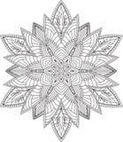 Αφηρημένο διανυσματικό στρογγυλό σχέδιο δαντελλών - mandala, διακοσμητικό στοιχείο Στοκ Εικόνες