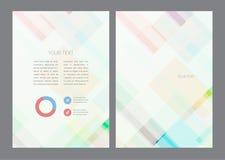 Αφηρημένο διανυσματικό σύγχρονο σχέδιο φυλλάδιων ιπτάμενων απεικόνιση αποθεμάτων