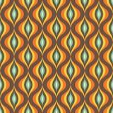 Αφηρημένο διανυσματικό υπόβαθρο - άνευ ραφής διανυσματικό σχέδιο στα καφετιά και πορτοκαλιά χρώματα Στοκ Εικόνες