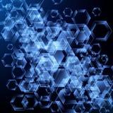 Αφηρημένο διανυσματικό υπόβαθρο με hexagons Σχέδιο τεχνολογίας Στοκ εικόνα με δικαίωμα ελεύθερης χρήσης