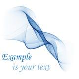 Αφηρημένο διανυσματικό υπόβαθρο, μπλε διαφανείς κυματισμένες γραμμές για το φυλλάδιο, ιστοχώρος, σχέδιο ιπτάμενων μπλε κύμα καπνο ελεύθερη απεικόνιση δικαιώματος