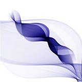 Αφηρημένο διανυσματικό υπόβαθρο, μπλε διαφανείς κυματισμένες γραμμές για το φυλλάδιο, ιστοχώρος, σχέδιο ιπτάμενων Στοκ Εικόνα