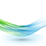 Αφηρημένο διανυσματικό υπόβαθρο, μπλε και πράσινες κυματισμένες γραμμές για το φυλλάδιο, ιστοχώρος, σχέδιο ιπτάμενων διανυσματική απεικόνιση