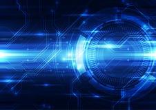 Αφηρημένο διανυσματικό υπόβαθρο τεχνολογίας εφαρμοσμένης μηχανικής, απεικόνιση Στοκ Φωτογραφίες