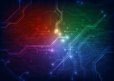 Αφηρημένο διανυσματικό υπόβαθρο τεχνολογίας πινάκων κυκλωμάτων Στοκ Εικόνα