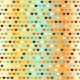 αφηρημένο διαστημικό κείμενο προτύπων αγάπης εικόνας απεικόνισης καρδιών έννοιας άνευ ραφής διάνυσμα ανασκό Στοκ Εικόνα