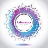 Αφηρημένο ιατρικό εργαστηριακό έμβλημα - στοιχείο κύκλων Στοκ φωτογραφία με δικαίωμα ελεύθερης χρήσης