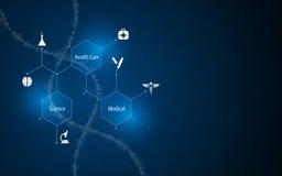 Αφηρημένο ιατρικό υγειονομικής περίθαλψης επιστήμης καινοτομίας υπόβαθρο σχεδίου δομών έννοιας μοριακό ελεύθερη απεικόνιση δικαιώματος