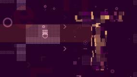 Αφηρημένο ιώδες υπόβαθρο Techno διανυσματική απεικόνιση