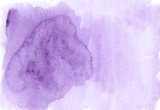 Αφηρημένο ιώδες υπόβαθρο watercolor με το διάστημα για το κείμενο Στοκ Φωτογραφία