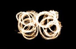 Αφηρημένο κάψιμο αριθμού πυρκαγιάς υπαίθριο Στοκ Φωτογραφίες