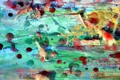 Αφηρημένο κέρινο υπόβαθρο ζωγραφικής στα χρώματα κρητιδογραφιών Στοκ φωτογραφία με δικαίωμα ελεύθερης χρήσης