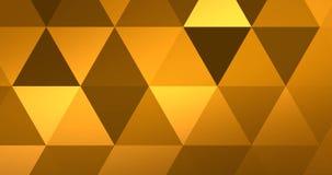 Αφηρημένο κίτρινο γεωμετρικό πολύχρωμο σχέδιο τριγώνων με την άνευ ραφής μετακίνηση χρώματος μετάβασης, απεικόνιση αποθεμάτων