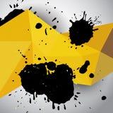 Αφηρημένο κίτρινο γεωμετρικό υπόβαθρο grunge Στοκ Εικόνες