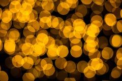 Αφηρημένο κίτρινο υπόβαθρο φω'των bokeh Στοκ εικόνα με δικαίωμα ελεύθερης χρήσης
