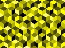 Αφηρημένο κίτρινο χρωματισμένο γεωμετρικό εξαγωνικό υπόβαθρο Στοκ Εικόνα