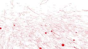 Αφηρημένο καθαρό κόκκινο που κυματίζει το τρισδιάστατο πλέγμα ή το πλέγμα ως σαφές σκηνικό Κόκκινο γεωμετρικό δομένος περιβάλλον  απεικόνιση αποθεμάτων