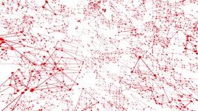 Αφηρημένο καθαρό κόκκινο που κυματίζει το τρισδιάστατο πλέγμα ή το πλέγμα ως καθαρό σκηνικό Κόκκινο γεωμετρικό δομένος περιβάλλον διανυσματική απεικόνιση