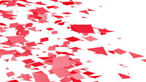 Αφηρημένο καθαρό κόκκινο που κυματίζει το τρισδιάστατο πλέγμα ή το πλέγμα ως αφηρημένο καθαρό περιβάλλον Κόκκινο γεωμετρικό δομέν διανυσματική απεικόνιση