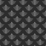 Αφηρημένο καθιερώνον τη μόδα άσπρο γεωμετρικό διαστιγμένο σχέδιο μορφής ανεμιστήρων στο Μαύρο διανυσματική απεικόνιση