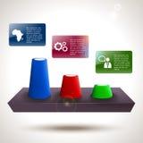 Αφηρημένο καθιερώνον τη μόδα infographic σχέδιο διαγραμμάτων απεικόνιση αποθεμάτων
