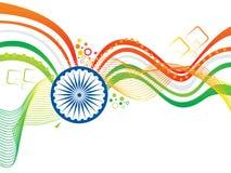 Αφηρημένο καλλιτεχνικό δημιουργικό ινδικό υπόβαθρο κυμάτων σημαιών Στοκ φωτογραφία με δικαίωμα ελεύθερης χρήσης