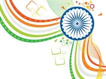 Αφηρημένο καλλιτεχνικό ινδικό κύμα σημαιών Στοκ εικόνες με δικαίωμα ελεύθερης χρήσης