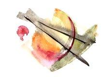 Αφηρημένο καλλιτεχνικό υπόβαθρο ζωγραφικής διανυσματική απεικόνιση