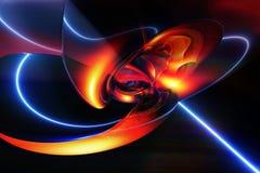 Αφηρημένο καλλιτεχνικό ψηφιακό σύγχρονο ομαλό έργο τέχνης που ζαρώνει μια ακτίνα λέιζερ έξω ελεύθερη απεικόνιση δικαιώματος
