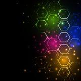 Αφηρημένο καμμένος υπόβαθρο με hexagons Στοκ εικόνες με δικαίωμα ελεύθερης χρήσης