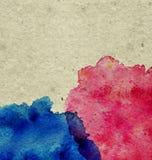 αφηρημένο κατασκευασμένο watercolor χρωμάτων Στοκ Εικόνες