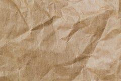 Αφηρημένο καφετί ανακύκλωσης τσαλακωμένο έγγραφο για το υπόβαθρο: πτυχή Στοκ φωτογραφίες με δικαίωμα ελεύθερης χρήσης