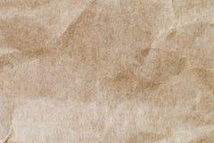 Αφηρημένο καφετί ανακύκλωσης τσαλακωμένο έγγραφο για το υπόβαθρο: πτυχή Στοκ Εικόνα