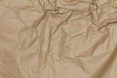 Αφηρημένο καφετί ανακύκλωσης τσαλακωμένο έγγραφο για το υπόβαθρο Στοκ φωτογραφία με δικαίωμα ελεύθερης χρήσης