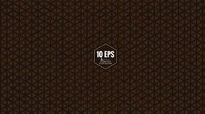 Αφηρημένο καφετί τριγωνικό σχέδιο BG Στοκ εικόνες με δικαίωμα ελεύθερης χρήσης