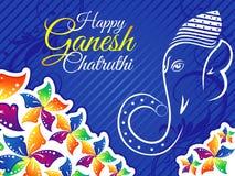 Αφηρημένο καλλιτεχνικό ζωηρόχρωμο υπόβαθρο chaturthi ganesh Στοκ Φωτογραφία