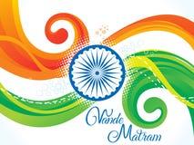 Αφηρημένο καλλιτεχνικό ινδικό κύμα σημαιών Στοκ Εικόνες