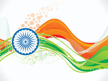 Αφηρημένο καλλιτεχνικό ινδικό υπόβαθρο κυμάτων σημαιών Στοκ Εικόνες