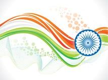 Αφηρημένο καλλιτεχνικό ινδικό υπόβαθρο κυμάτων σημαιών Στοκ φωτογραφίες με δικαίωμα ελεύθερης χρήσης